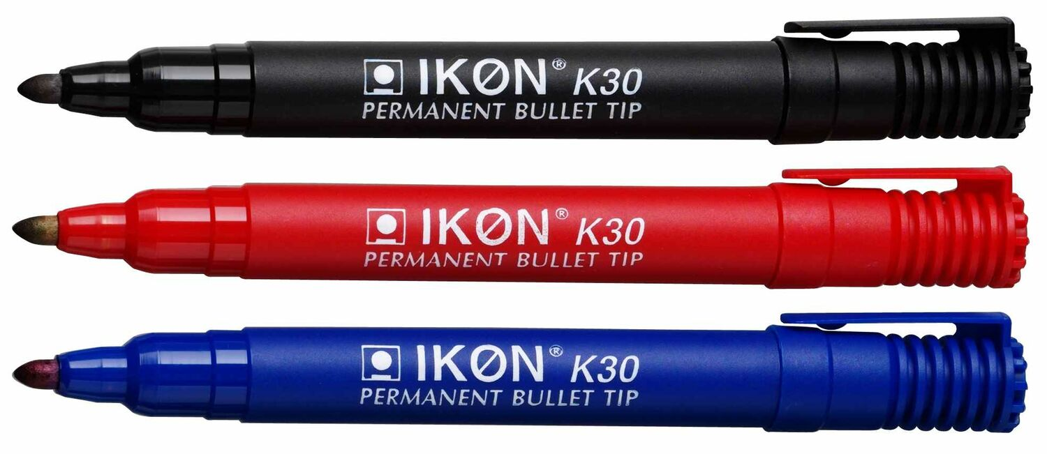 IKON K30 Permanent Bullet Tip Markers FAST AND FREE DELIVERY