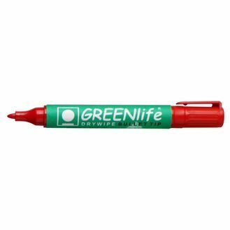 Greenlife Dry Wipe Bullet Tip Marker - Pack Of 10
