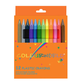 ColourWorld Plastic Crayons - Pack Of 12 (mixed)