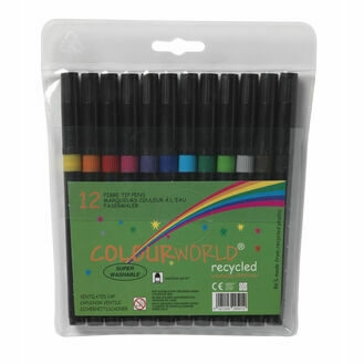 Colourworld Recycled Fine Tip Children's Marker - Pack Of 12