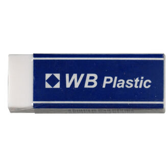 Wb Plastic Eraser & Sleeve - Pack Of 20