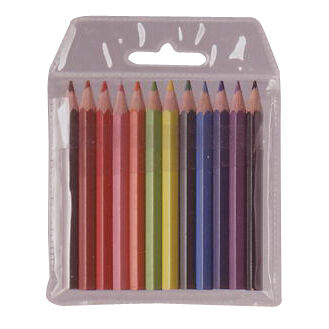 Colourworld Half Size Pencils - Pack Of 12 (mixed)