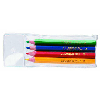 Colourworld Half Size Pencils (4/wallet) In 1440's