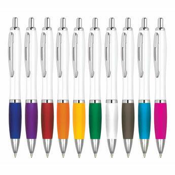 Image Curvy White Retractable Pen