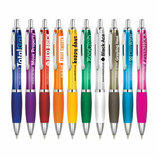 Image Curvy Clear Retractable Pen