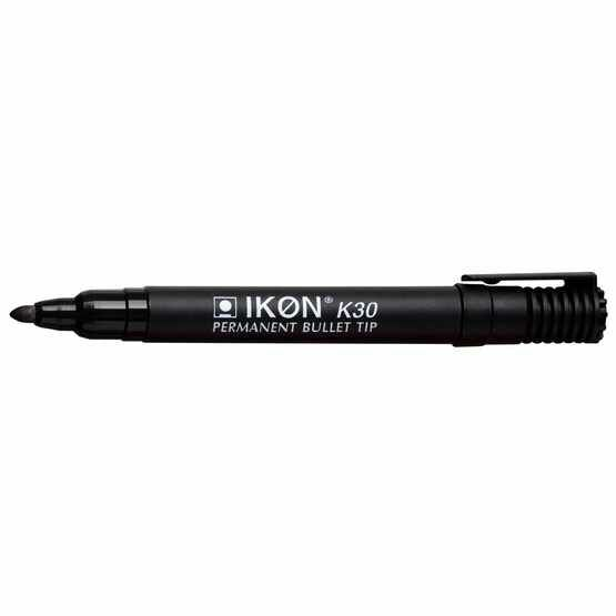 Ikon K30 Permanent Bullet Tip Marker - Pack Of 10