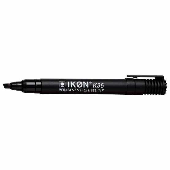 Ikon K35 Permanent Chisel Tip Marker - Pack Of 10