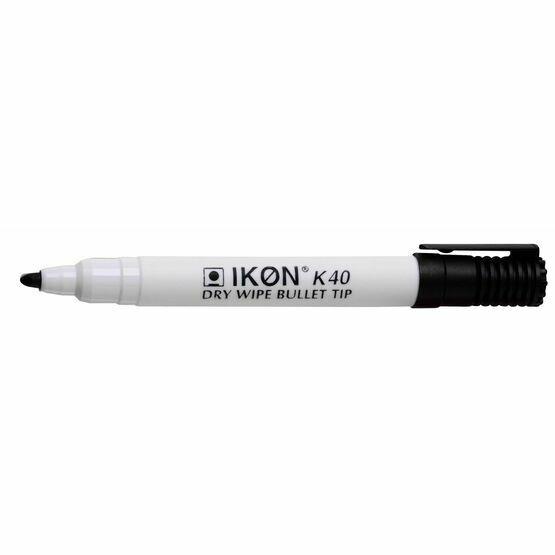 Ikon K40 Dry Wipe Bullet Tip Marker - Pack Of 10