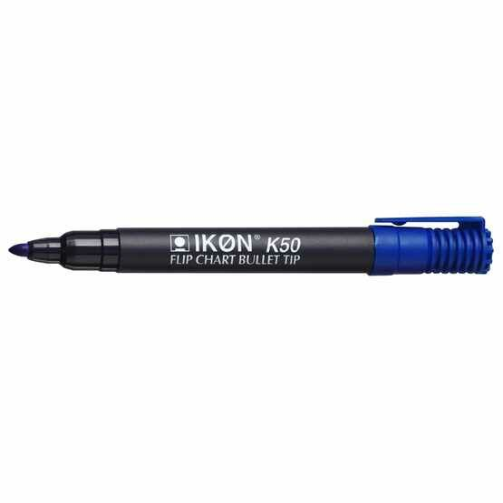 Ikon K50 Flipchart Marker - Mixed Colours Pack Of 4