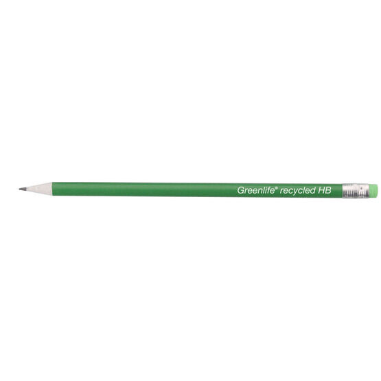 Greenlife Recycled  Hb Pencil With Eraser - Pack Of 12