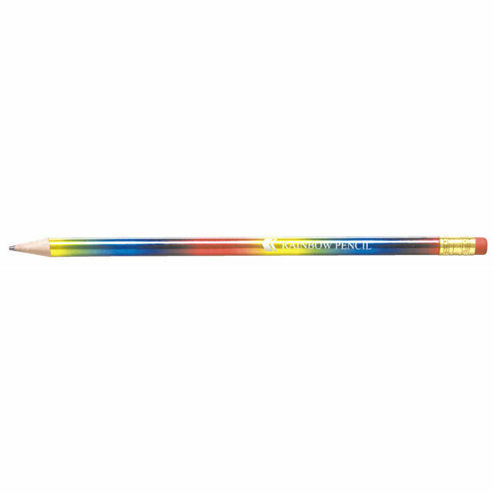 Rainbow Pencil With Pink Eraser